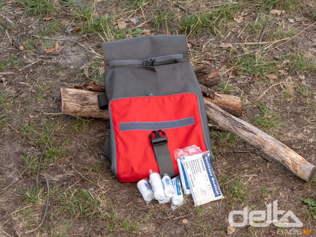 Medic Bag XL Farngrün-Rot