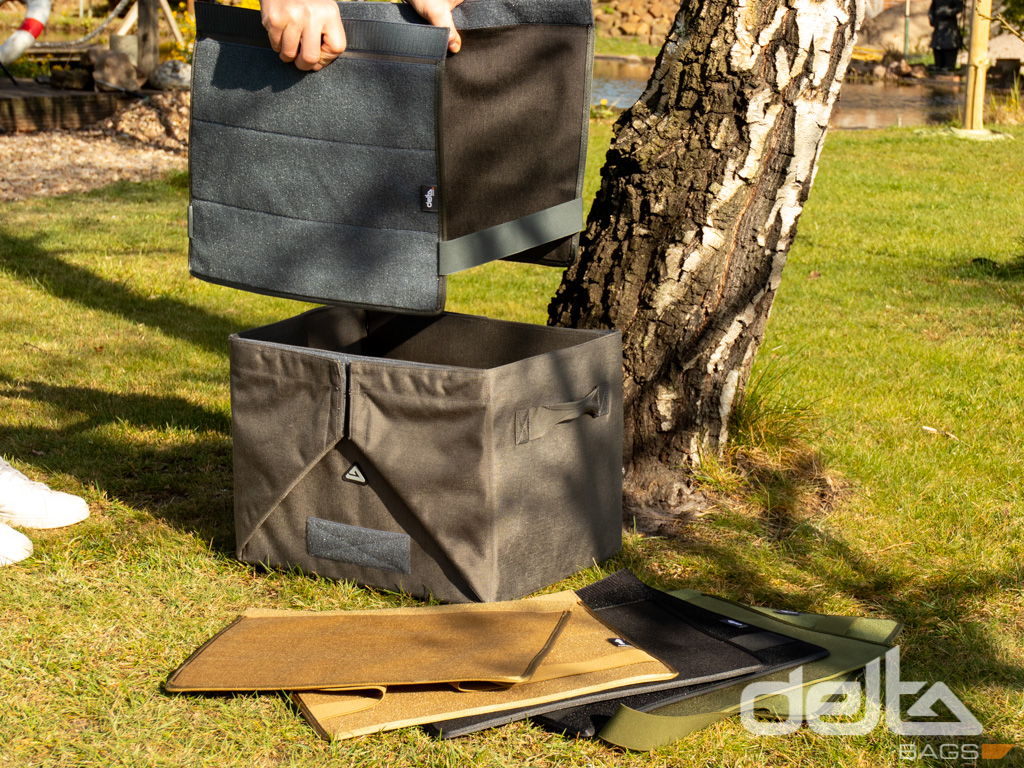 Velcro Adapter für Stow Box L Grau