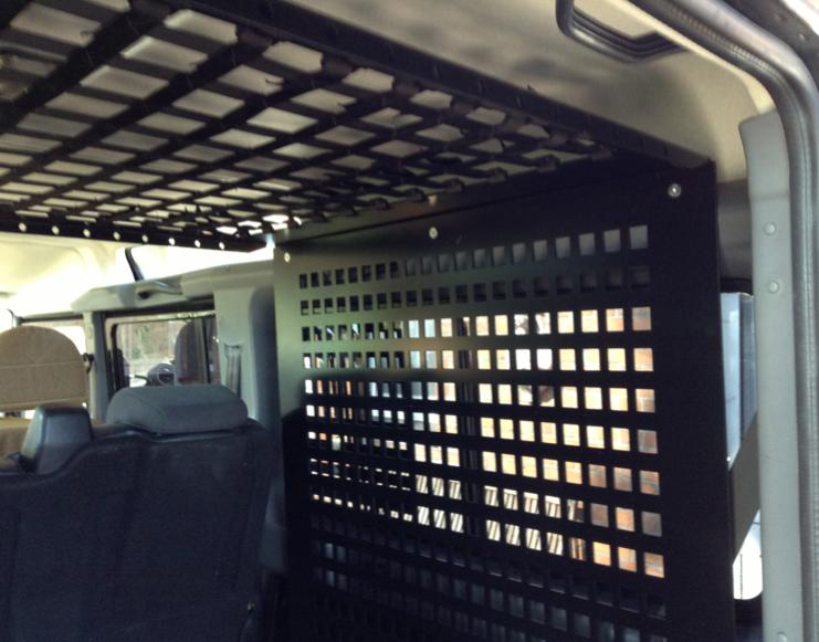 Inside Cage Land Rover Defender TD4